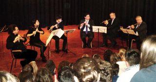 Il Trieste Flute Ensemble in cattedra nelle scuole statali della Regione