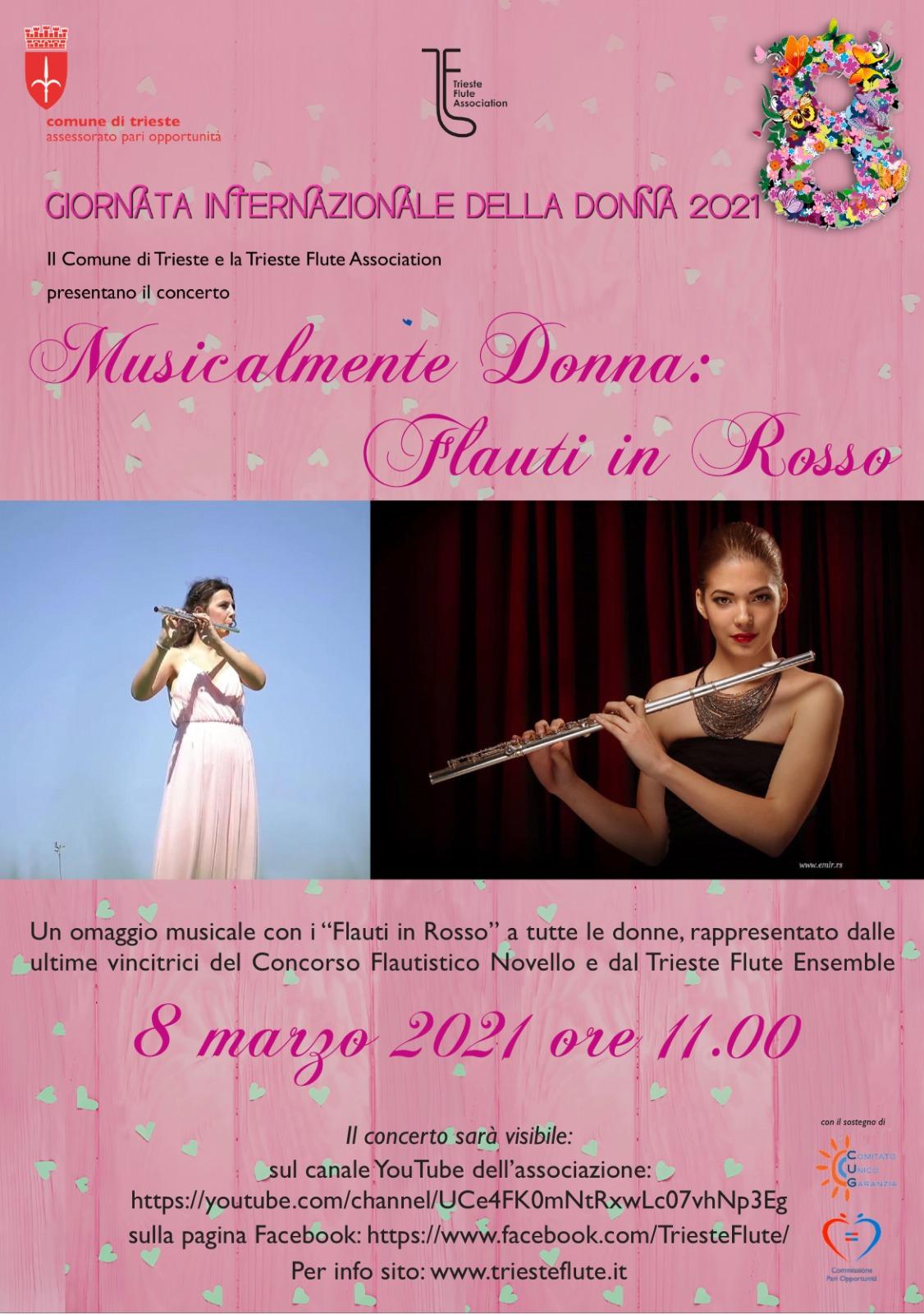 Flauti in Rosso 8 marzo 2021
